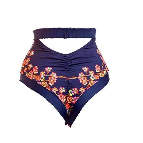 Costumi Donna, Dorame Bikini Pavone Stampa Posteriore Strappy Halter Neck Swimsuit One Piece Body Monokini Dance Costume Taglia Blu