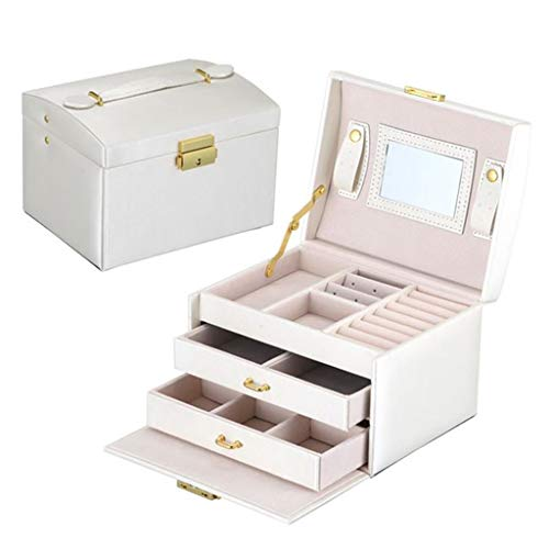 LPFMM Große Schmuckschatulle Kosmetikbox Verschönerungs Geräumigen Und Eleganten Kleiderschrank Schublade 4 (weiß Kosmetischer Aufbewahrungsbox (Color : C)