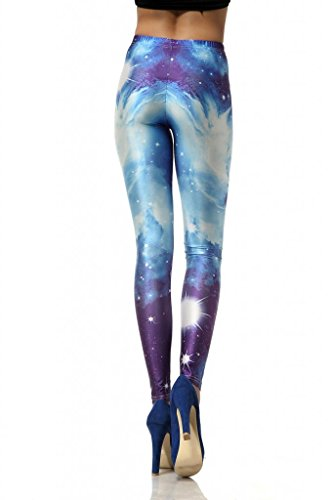 iCreat Tattoo Leggings Galaxy Sterne Print Style Comic Destroy Graffiti Muster Galaxy DK017