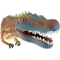 Hapsters Dinosaur Hand Puppet Toys,Soft Rubber Realistic Raptor Dinosaur Head Baryonyx