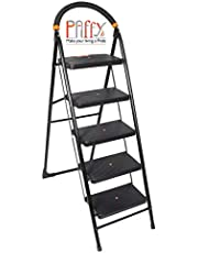 Paffy Premium Heavy Folding Ladder With Wide Steps - Milano 5 Steps (5.1 Ft Ladder)