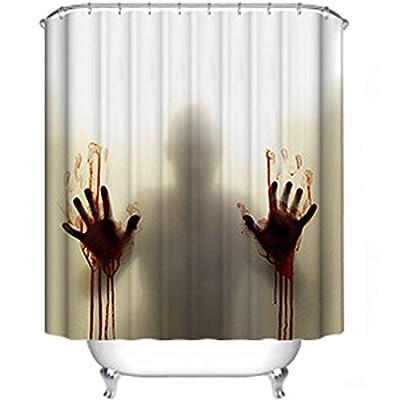 Uniqstore Rideau de douche à la main sanglante Rideau de douche en polyéthylène imperméable pour décoration intérieure