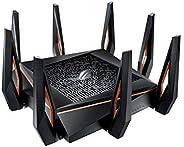 راوتر الالعاب اللاسلكي من اسوس GT-AX11000 - ثلاثي الموجات / 11ax.802/ WiFi 6  راوتر10 جيجا بايت الاول بالعالم