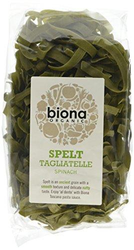 Biona Organic Spelt Tagliatelle Spinach 250g (Pack of 6)