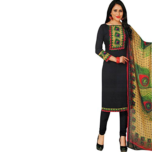Lady Line Faux Crepe Salwar Kameez with Digital Printed Salwar Suit Indian/...
