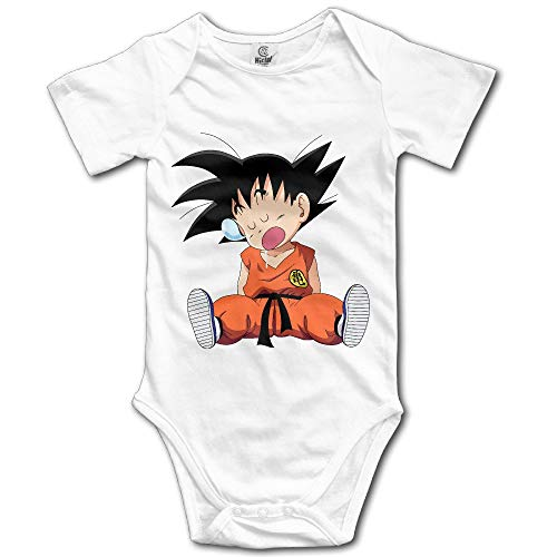 Cute Cartoon Dragon Ball Z Kid Wukong Newborn Baby Onesies Baby Clothes 6Months (Z-brand Shorts)