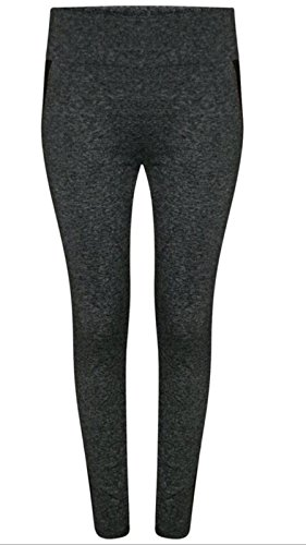 Glamour Fashion - Legging de sport - Femme Noir Noir Noir - Noir