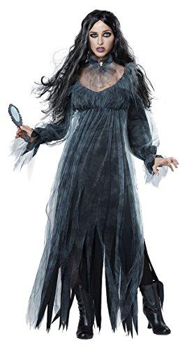 CWZJ Braut Zombie-Kostüm Halloween Masquerade Cosplay Vampire Ghost Leiche Kleid Für Erwachsene Frauen,Black,XL