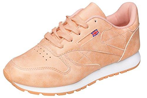Gibra Ladies Sneaker, Art. 0037, Molto Leggero E Confortevole, Albicocca, Albicocca 36-41 Gr