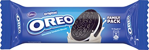 Cadbury Oreo Original Vanilla Creme Biscuit, 120 G Pack - Pack Of 7