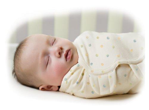 SwaddleMe 73800 - O2D Neugeborenes - Ganzkörper Pucksack ist ideal bei Schreibabys Small Bio-Baumwolle/Kleckse