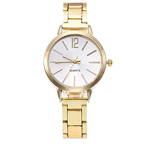 CJWANXF Damenuhr Damen Beiläufige Uhr Armbanduhr Damen Armbanduhren Uhr Rose Golded Women, B - 1067 Ziehen