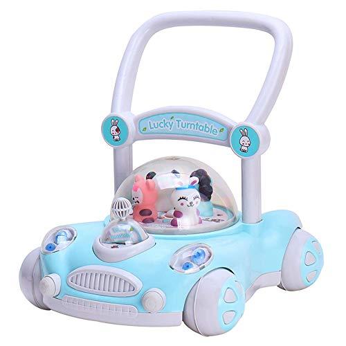 der Walker 7-18 Monate Baby Anti-Roll-Trolley Einstellbare Hebe Kinder Walker Baby-Spielzeug (Farbe : Blau, Größe : 40 * 43 * 43CM) ()
