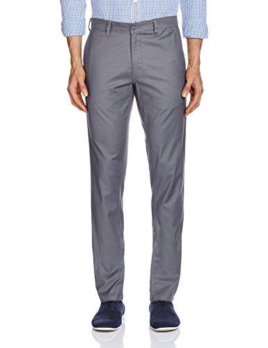 John Miller Men's Casual Trousers (8907372042572_1Vt00841_34W x 33L_Grey)