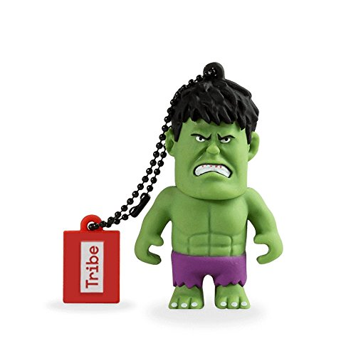 Tribe Disney Marvel Avengers Hulk USB Stick 16GB Speicherstick 2.0 High Speed Pendrive Memory Stick Flash Drive, Lustige Geschenke 3D Figur, USB Gadget aus Hart-PVC mit Schlüsselanhänger – Grün