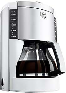 Melitta M 652-010304 Look de Luxe Kaffeefiltermaschine -Aromaselector –Tropfstopp weiß/silber