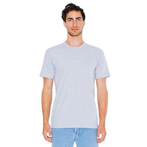 American Apparel - Unisex Fine Jersey T-Shirt / heather grey, XXL (Baumwolle Grey Unisex Heather)