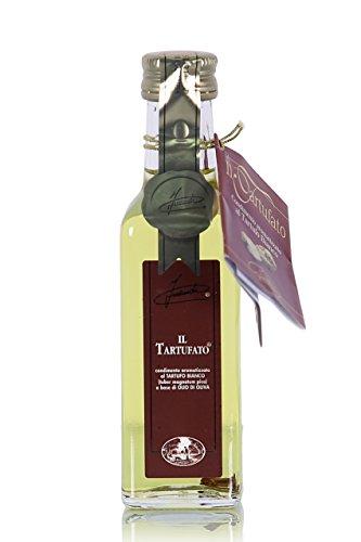 Olio di oliva al tartufo bianco d'alba, con pezzi di tartufo - intenso (100 ml)