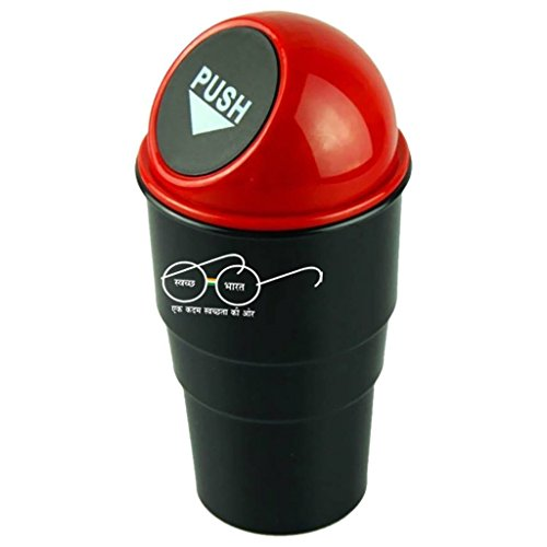 Buyerzone Compact Car Trash Rubbish Can Garbage Dust Dustbin Box Case Holder Bin Hook Home Office Small Trash Can