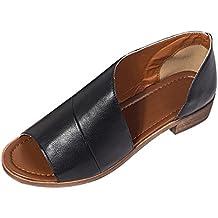 Sandale Femme 43 Sandale Fermé Femme Chaussure Plate Femme Ete Ferme  Chaussures Romaines Sandales Femmes Plates