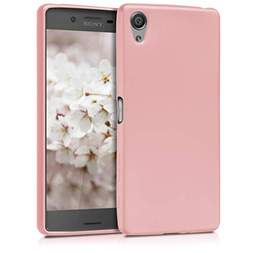 kwmobile Sony Xperia X Hülle - Handyhülle für Sony Xperia X - Handy Case in Metallic Rosegold