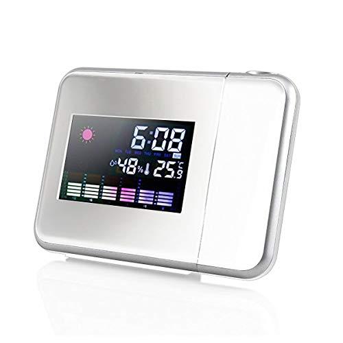 HaiQianXin Pantalla LCD Color Reloj Despertador Despertador
