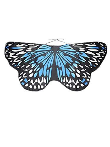 TEBAISE Frauen Karneval Cosplay Wings Flügel Butterfly Schmetterlings Schals Damen Parties Nymph Pixie Poncho Kostümzubehör Fasnacht Fasching Kostüm Schmetterling Poncho Schal Wrap Umhang Für - Salon Frau Kostüm