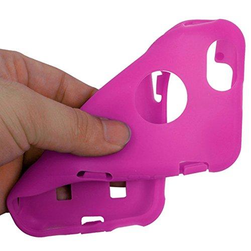 wortek Schutzhülle Apple iPhone 6 4,7 Zoll Crystal Hybrid Case (Hardcase + Silikon) Lila Pink
