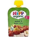 Hipp Pommes Biologiques Et Bébés Riz 4 + Mois 70G - Lot De 2