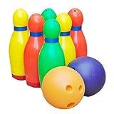 Kingfisher Garden Games–Kunststoff Bowling Skittle Set