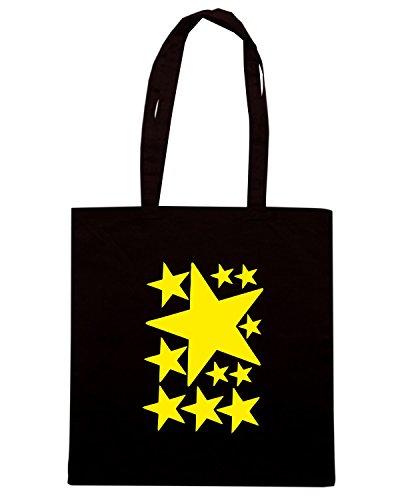 T-Shirtshock - Borsa Shopping FUN0365 525 stars vinyl stickers 72454 Nero