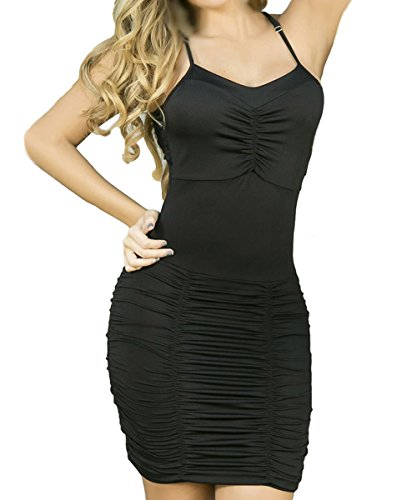 Dissa S1122764 femme Sexy Robe moulante Noir