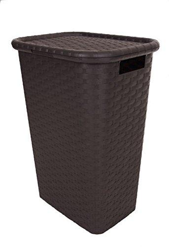 Wäschebox mit Deckel in Flechtoptik