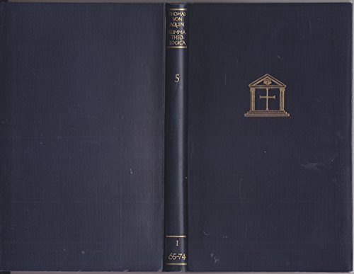 Das Werk der sechs Tage (Die Deutsche Thomas-Ausgabe. Vollständige, ungekürzte deutsch-lateinische Ausgabe der Summa Theologica, 5 (I, 65-74))