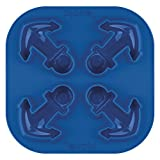 Tovolo Cute, Fun & Detailed Novelty Silicone Ice Cube Tray, Ice Cube Mould, Anchor - Eis Anker-form
