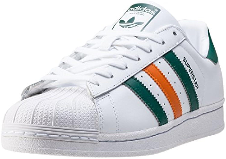 adidas Superstar White Green Orange  Billig und erschwinglich Im Verkauf
