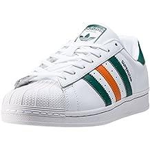 adidas Superstar White Green Orange