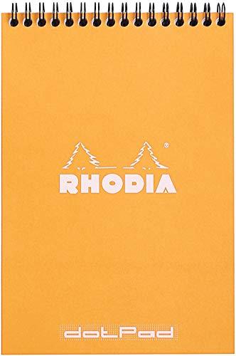 Rhodia Classic - Cuaderno (con espiral, Dot - Formato A5 (14.8 x 21 cm), Naranja