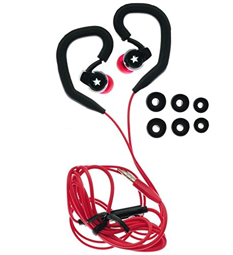 Jogging-radio-headset (Sport / Jogging Ohrbügel Kopfhörer Headset mit 6x Silikon Aufsatz)