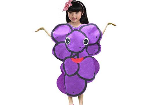 Kinder Früchte Gemüse & Natur Kostüme Fancy Dress Jungen und Mädchen (Lila traube) (Lila Trauben Kostüme)