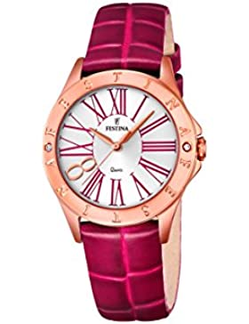 Festina Damen-Armbanduhr Journees Analog Quarz Leder F16930/2