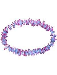 Hawaiikette blau zu pink Blumenketten Hawaii Kette 33