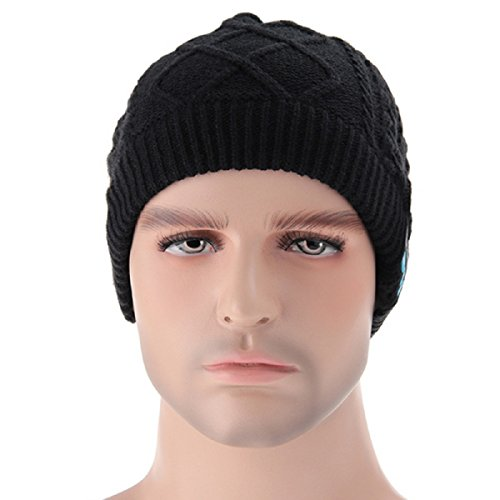 Berretto di Lana Wireless + EDR Cuffia Musica MP3 Audio Bluetooth Wireless removibile - Megadream Inverno Caldo Berretto Con Controllo Volume E altoparlanti stereo e microfono vivavoce lavabile Cappello Unisex Inverno Wrinkle maglia Crochet Baggy Beret Beanie Cap regali di Natale per Fitness Sport All' aperto ciclismo, 5 colori disponibili