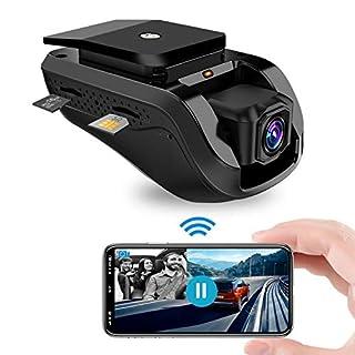 DashCam Dual 1080P Auto Kamera Toptellite 3G WiFi Nachtsicht Car Camera, DVR Autokamera mit Loop Aufnahme, GPS Auto Camera, G-Sensor, Vibrationsalarm, Kostenlose 16GB TF Karte, Live-Video-Streaming üb