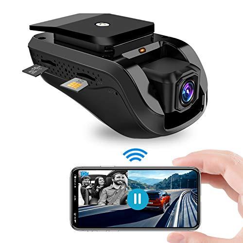 Dashcam Caméra de voiture, Toptellite 1080P FHD 3G WiFi Caméra de tableau de bord automatique avec capteur G, Double GPS Dashcam, Enregistreur Vidéo à Boucle pour la Voiture, TF 16 Go, Vision Nocturne