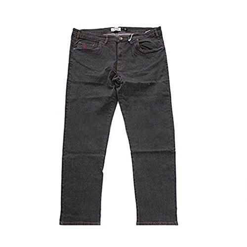 Jeans maxfort strech taglie forti uomo - nero, 70 girovita 140 cm