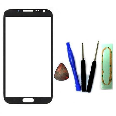 Samsung Note 2 Lcd - Gris Ecran Vitre Externe Glass Pour Samsung