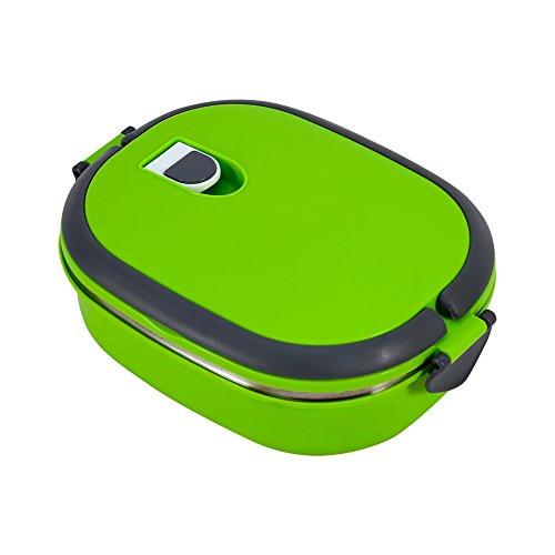 Porta pranzo impilabile portatile in acciaio inossidabile per isolamento contenitore termico di contenitori alimentari strati ermetici termico con manico (verde 1capas)
