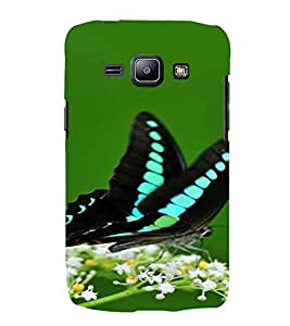 PrintVisa Butterfly Design 3D Hard Polycarbonate Designer Back Case Cover for Samsung Galaxy J1