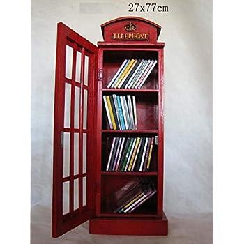 Superbe Armoire De Rangement Pour CD/DVD   En Forme De Cabine Téléphonique Anglaise    Rouge